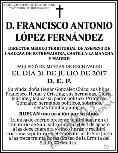 Francisco Antonio López Fernández